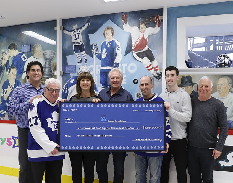 Leafs Fan Donates to Reena Foundation