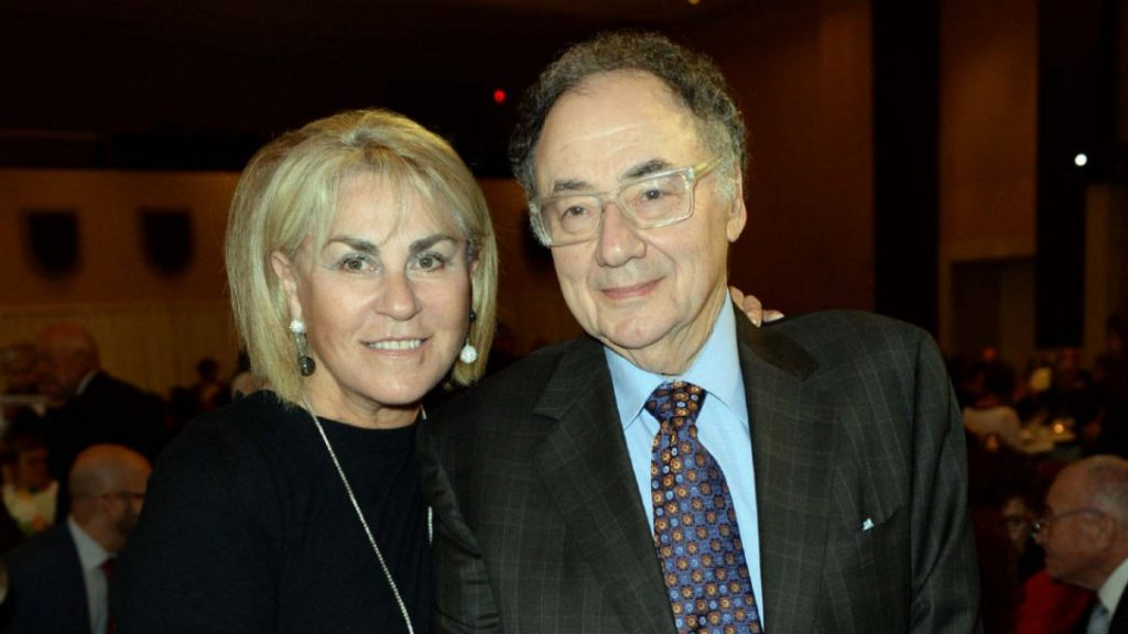 Honey and Barry Sherman standing side by side